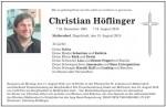 Todesanzeige Christian